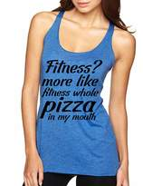 Allntrends Women's Tank Top Fitness More Like Whole Pizza Funny Tank (M, )