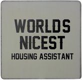 Fotomax Hardboard square fridge magnet with WORLDS NICEST Housing Assistant