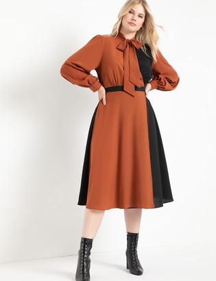 ELOQUII Colorblocked Dress