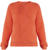 House of Holland Crew-neck ribbed-knit sweater