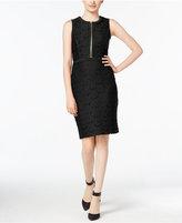 Calvin Klein Lace Zipper Sheath Dress