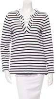 Kate Spade Striped Lace-Up Top