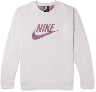 Nike Logo-Appliqued Loopback Cotton-Blend Jersey Sweatshirt