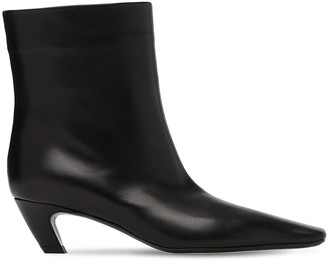 KHAITE 50mm Slouch Leather Tall Boots
