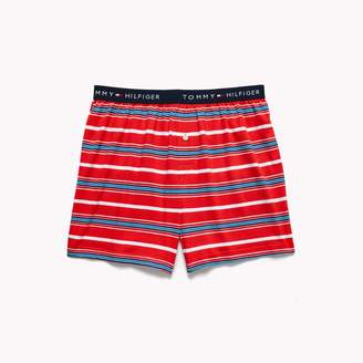 Tommy Hilfiger Stripe Knit Cotton Boxer