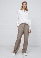 Jil Sander medium grey cyrius silk pant