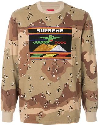 Supreme needlepoint patch T-shirt