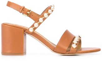Tory Burch Emmy pearl embellished sandals