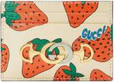 Gucci Zumi Strawberry print card case