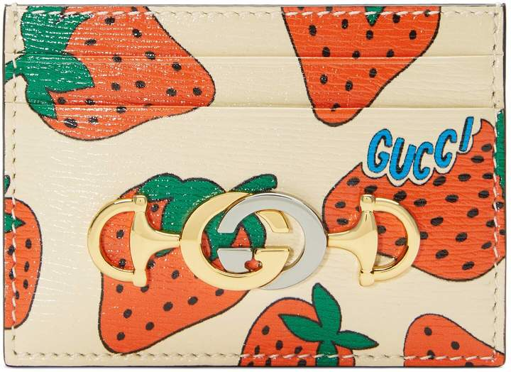 Zumi Strawberry print card case