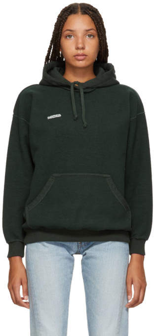 Vetements Green Fitted Inside Out Hoodie