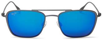 Maui Jim Unisex Ebb & Flow Polarized Square Sunglasses, 54mm