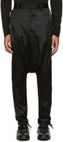Balmain Black Silk Sarouel Trousers
