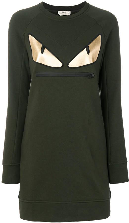 Fendi round neck sweatshirt dress