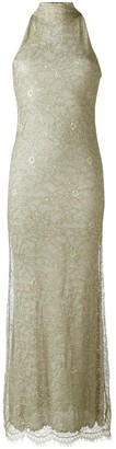 Romeo Gigli Pre-Owned Lace Overlay Evening Dress