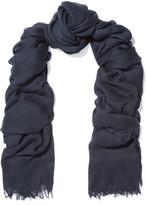 Rag & Bone Buckley Frayed Open-Knit Cotton Scarf