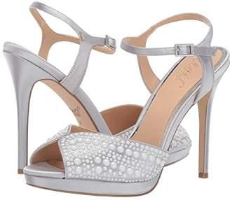 Badgley Mischka Shane (Silver Satin) Women's Dress Sandals