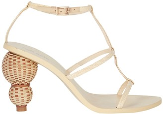 Cult Gaia Eden Stacked Leather Sandals