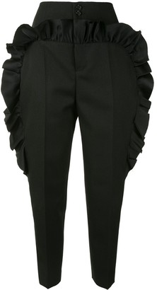 Undercover Ruffle-Trimmed Tapered Trousers