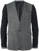 Lanvin inside out collarless blazer