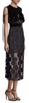 Yigal Azrouel Polka Dot Midi Dress