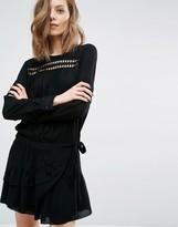 BA&SH Joli Dress with Wrap Skirt and Cut Work