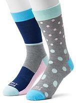 Men's Funky Socks 2-pack Pastel Dots Derby Socks