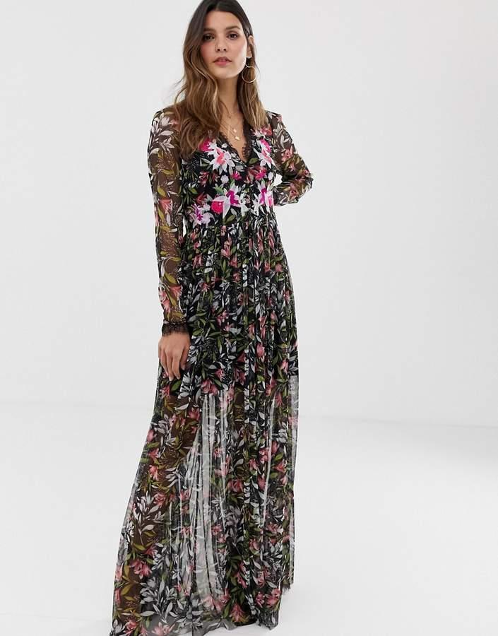 c5136d7d2f2 Black Maxi Dress French Connection - ShopStyle UK