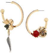 Betsey Johnson Lucky Charms Hoop Earrings