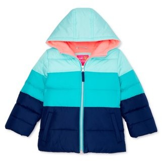 Pink Platinum Baby Toddler Girl Colorblocked Winter Jacket Coat