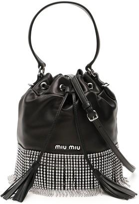 Miu Miu Crystal Fringe Bucket Bag