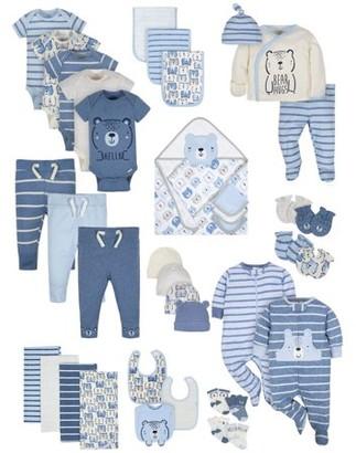 Gerber Baby Boy Organic Newborn Clothes Shower Gift Set, 39-Piece