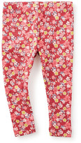 Tea Collection Kiku Floral Print Ribbed Cotton Leggings (Baby Girls)