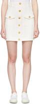 Balmain White Denim Buttons Miniskirt
