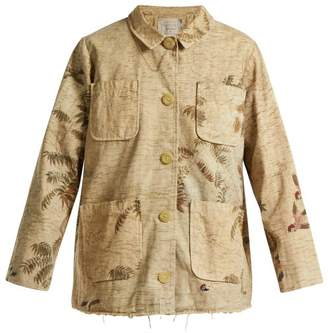 By Walid Hazy-jungle Print Cotton-canvas Jacket - Womens - Beige Print