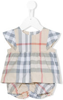 Burberry check pin top and bloomers - kids - Cotton - 9 mth