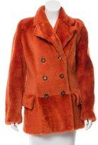 Gucci Faux Fur Leather Coat