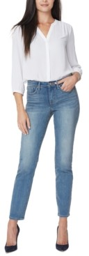 NYDJ Petite Sheri Slim-Leg Tummy-Control Jeans