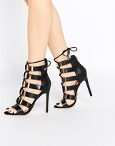 Lipsy Shona Ghillie Heeled Sandals