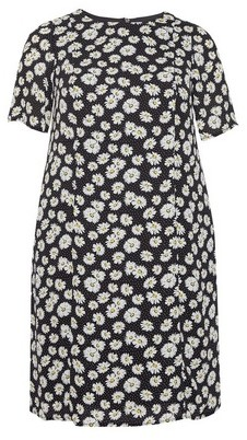 Dorothy Perkins Womens **Billie & Blossom Curve Black 'Diays' Crepe Shift Dress, Black