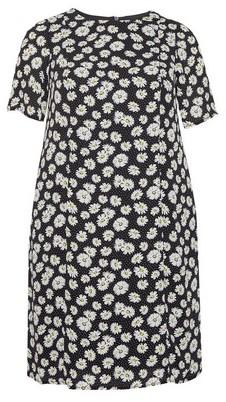 Dorothy Perkins Womens Billie & Blossom Curve Black 'Diays' Crepe Shift Dress, Black
