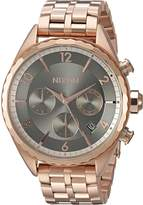 Nixon Women's 'Minx Chrono' Quartz Stainless Steel Watch, Color:Rose Gold-Toned (Model: A9932046-00)