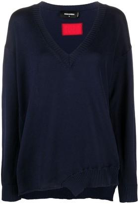 DSQUARED2 V-neck long-sleeve jumper