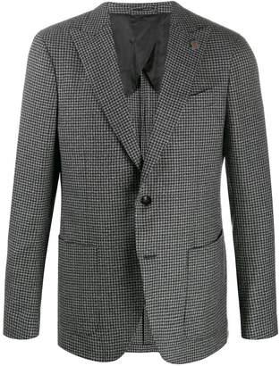 Lardini textured houndstooth blazer