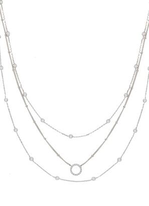 Ettika Triple Crystal Chain Necklace