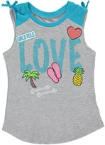 "Star Ride Little Girls' ""Love Rules"" Tank Top"