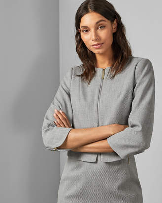 Ted Baker MICHAH Cropped textured jacket