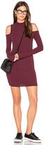 Blq Basiq Cold Shoulder Mini Dress in Red. - size 0 (XS/S) (also in 1(M/L))