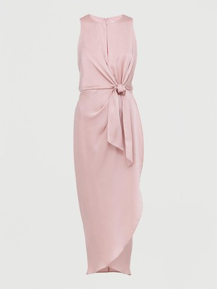 Ted Baker Keyhole Detail Midi Dress - Pink