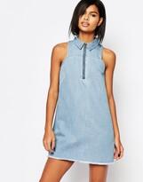 Vero Moda Denim Zip Up Dress